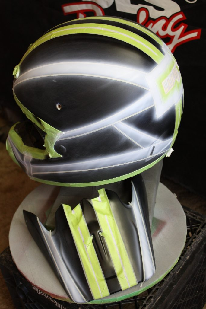 Cycledrag.com dirtbike Helmet in progress 4