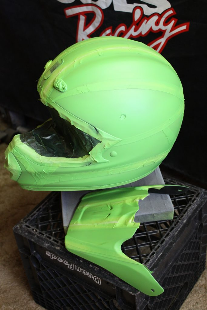 Cycledrag.com dirtbike Helmet in progress 5