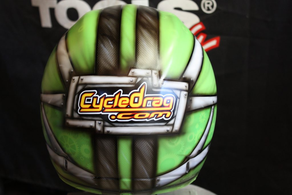 Cycledrag.com Custome Helmet Paint, Rippin Designs