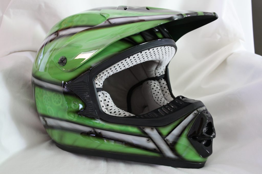 Cycledrag.com dirtbike Helmet after 4, rippin designs custom paint airbursh