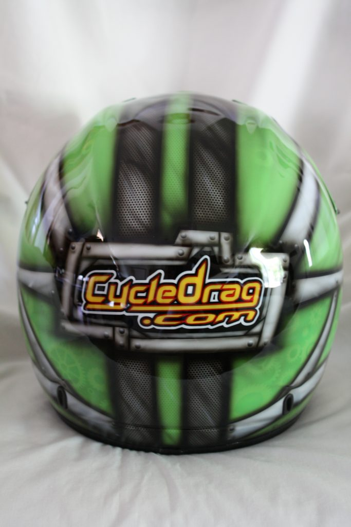 Cycledrag.com dirtbike Helmet after 1, rippin designs custom paint airbursh
