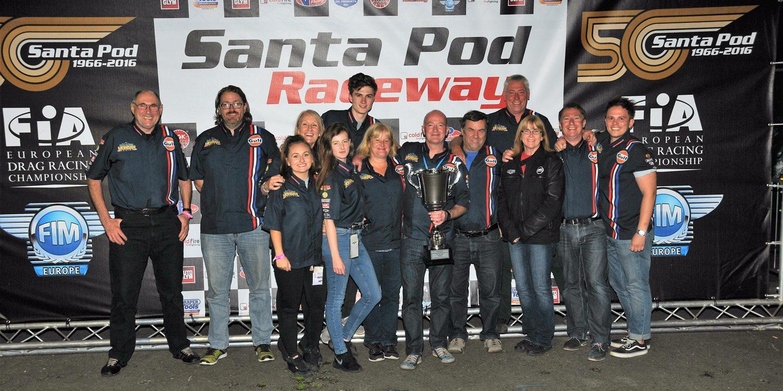 Ian King Santa Pod crew