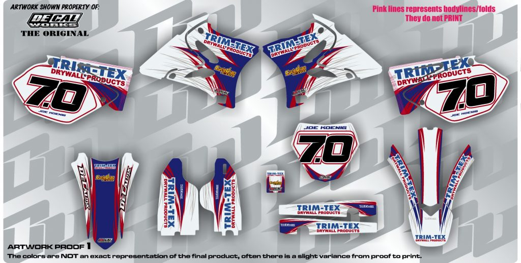 Joe Koenig - DeCal Works Trim-Tex YZ Ice Graphics