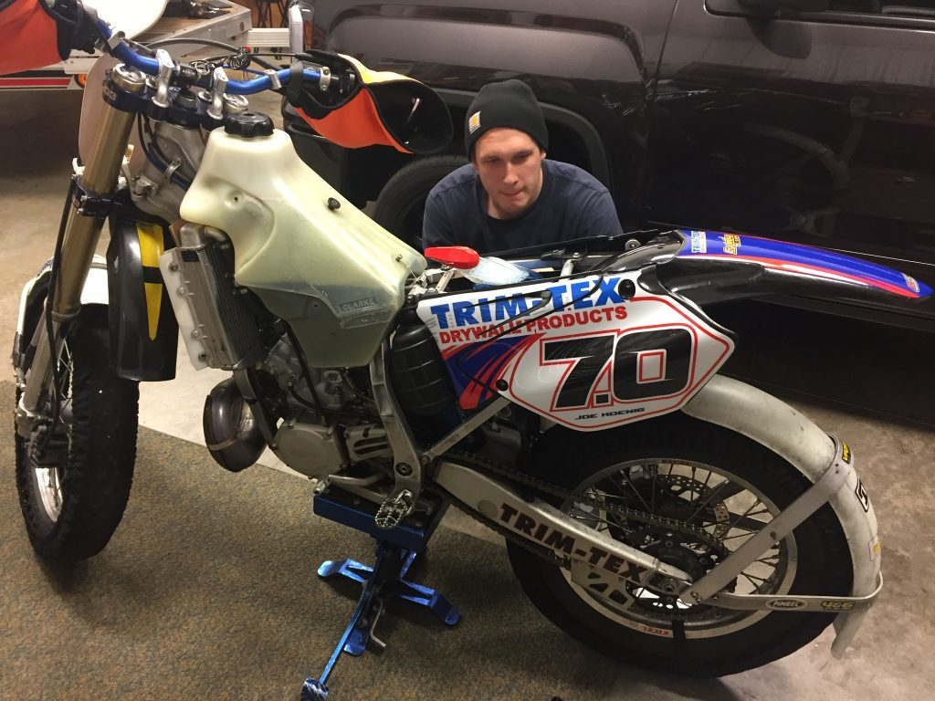 Joe Koenig Ice racer YZ 285