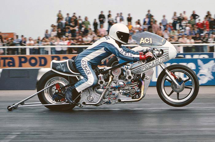 In 1970, the finest Top Fuel motorcycles