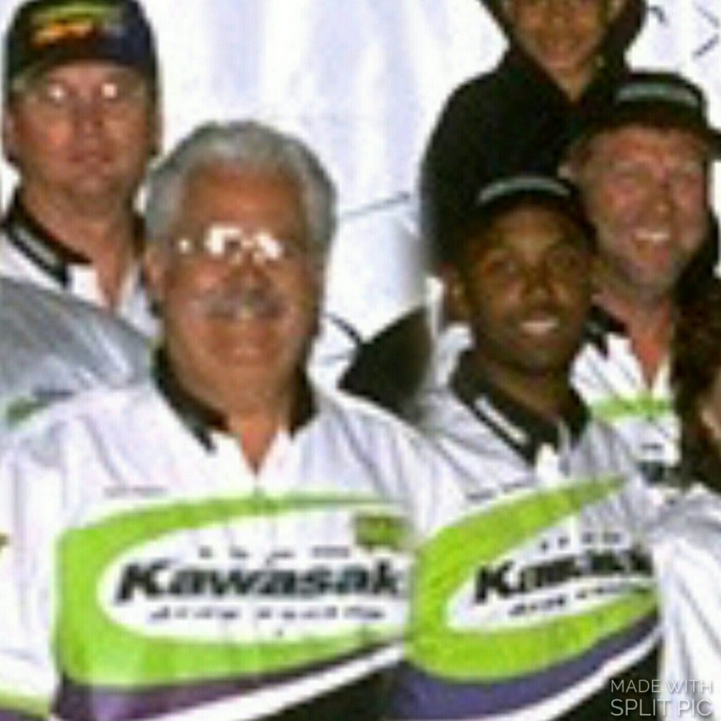 Team Kawasaki's John Hoover, Rob Muzzy, Rickey Gadson and Bruce Sauer.