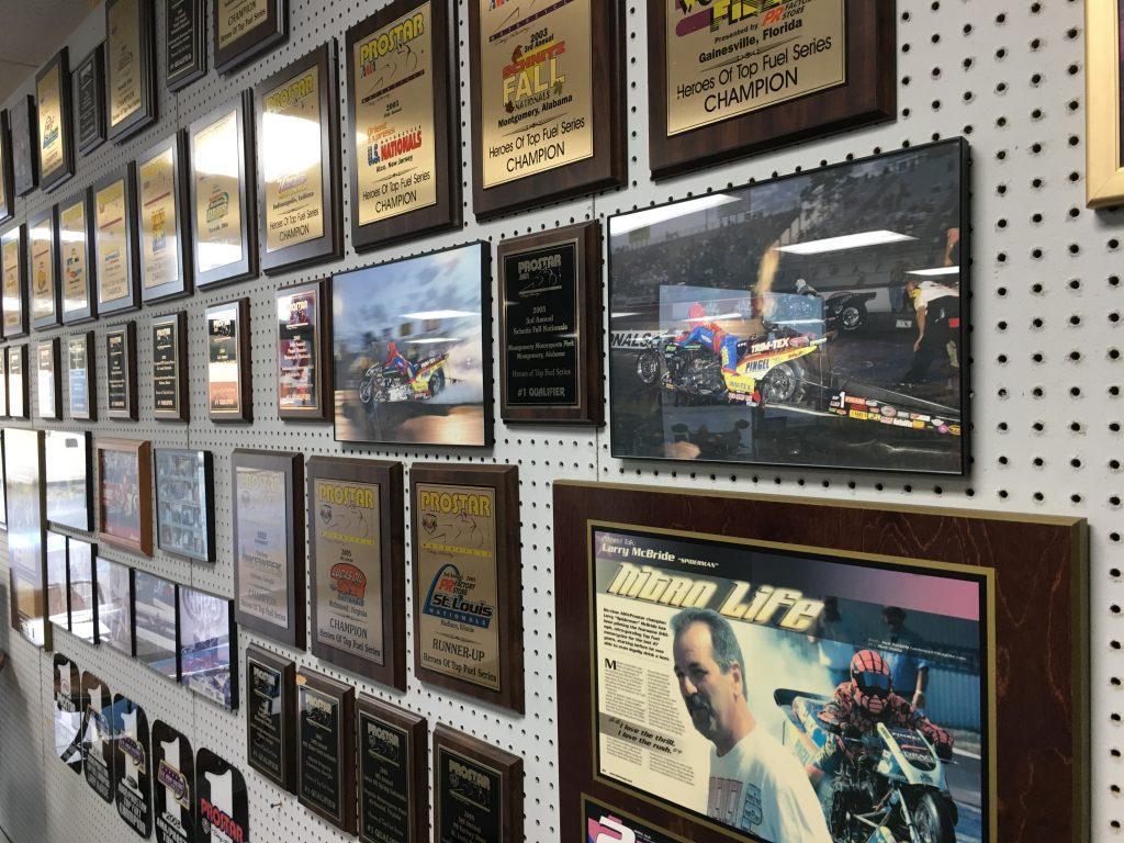 Larry McBride championship plaques