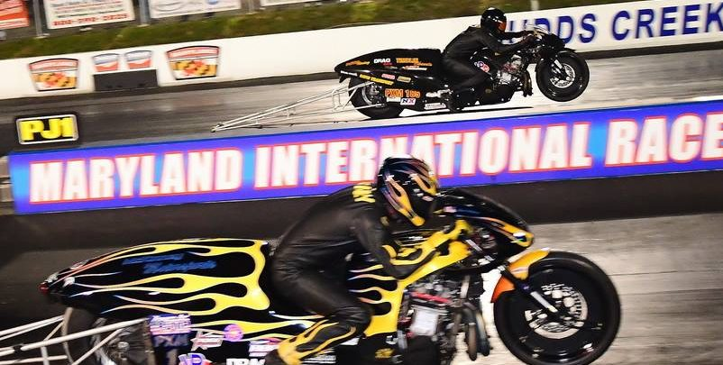 Pro Mod Dragbike Side by Side 3, Eric McKinney, Travis Davis