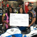 Real Street racer Del Flores, Shelia Green-Barnhill from Bikers Against Breast Cancer, Breast Cancer Patient Elaine Hilton, IDBL President Jack Korpela, Rich Gonnello