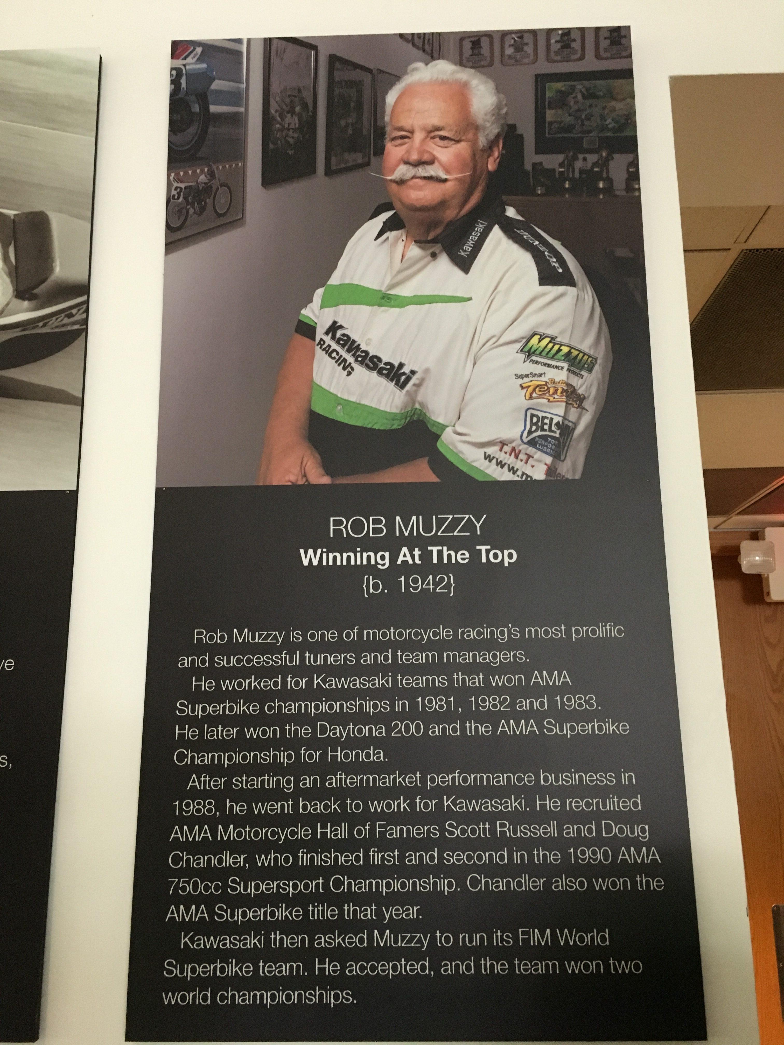 Rob Muzzy, AMA Hall of Fame
