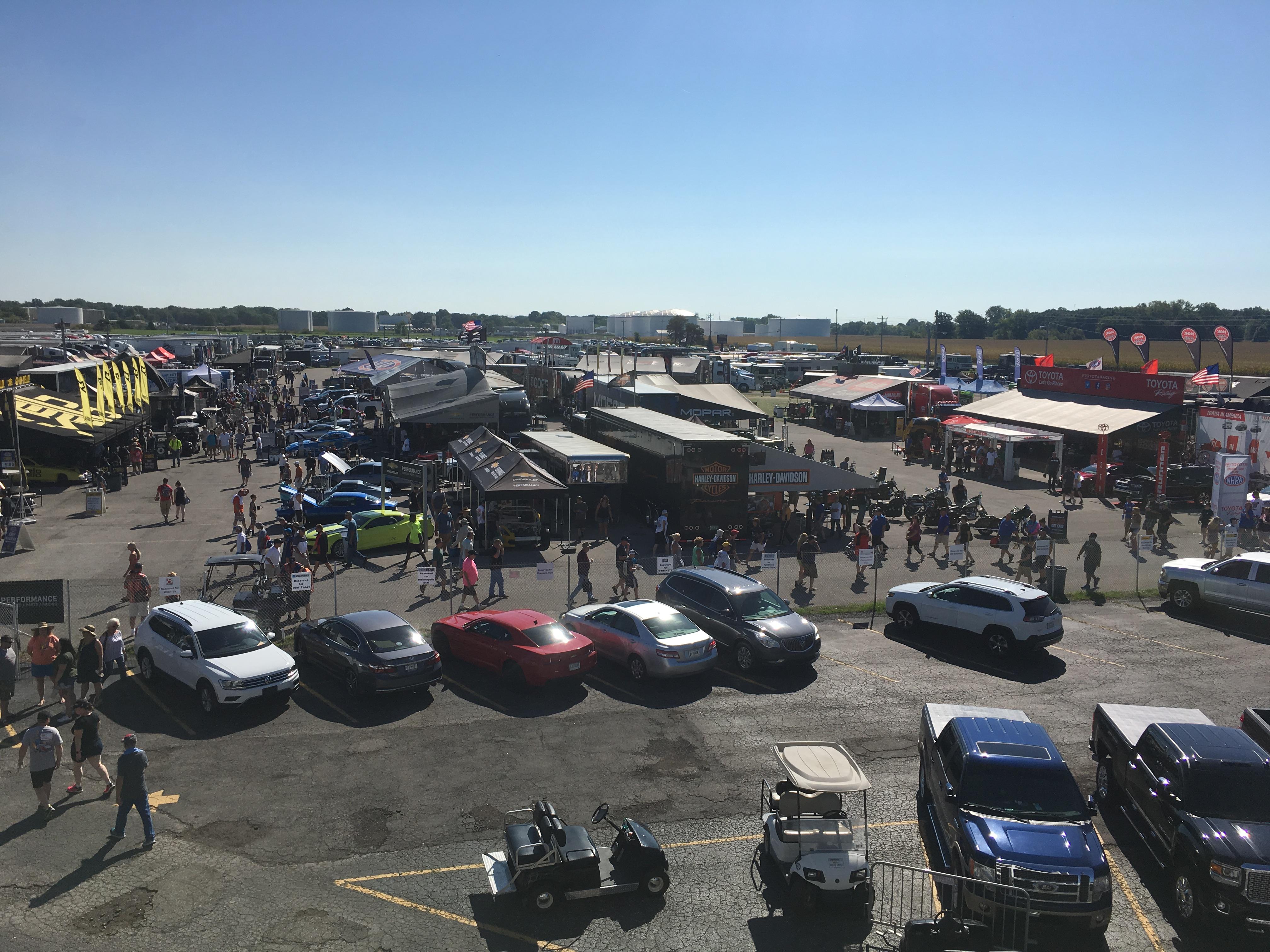 Lucas Oil Raceway NHRA US Nationals Pits