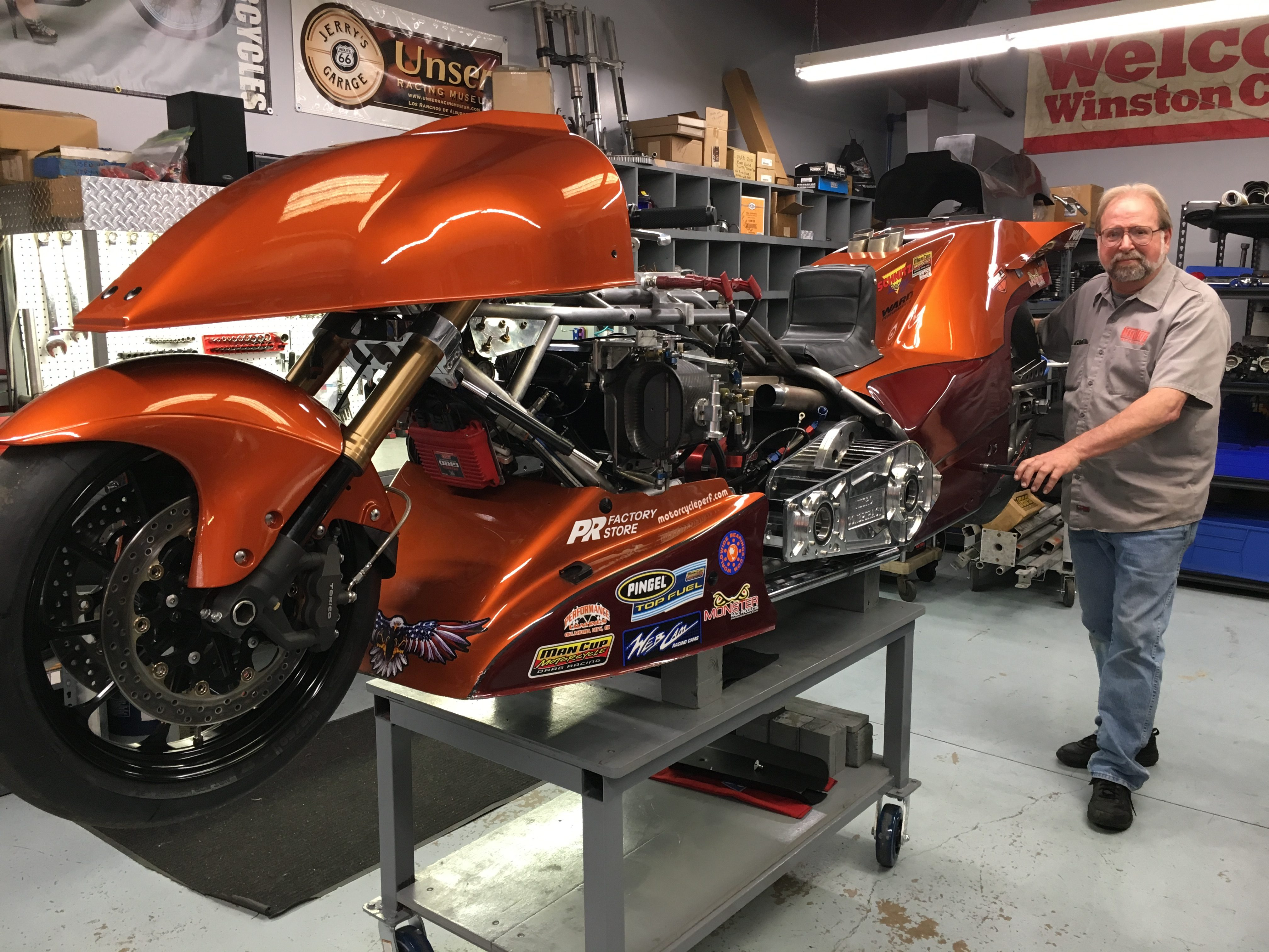 Sam Wills Top Fuel Motorcycle