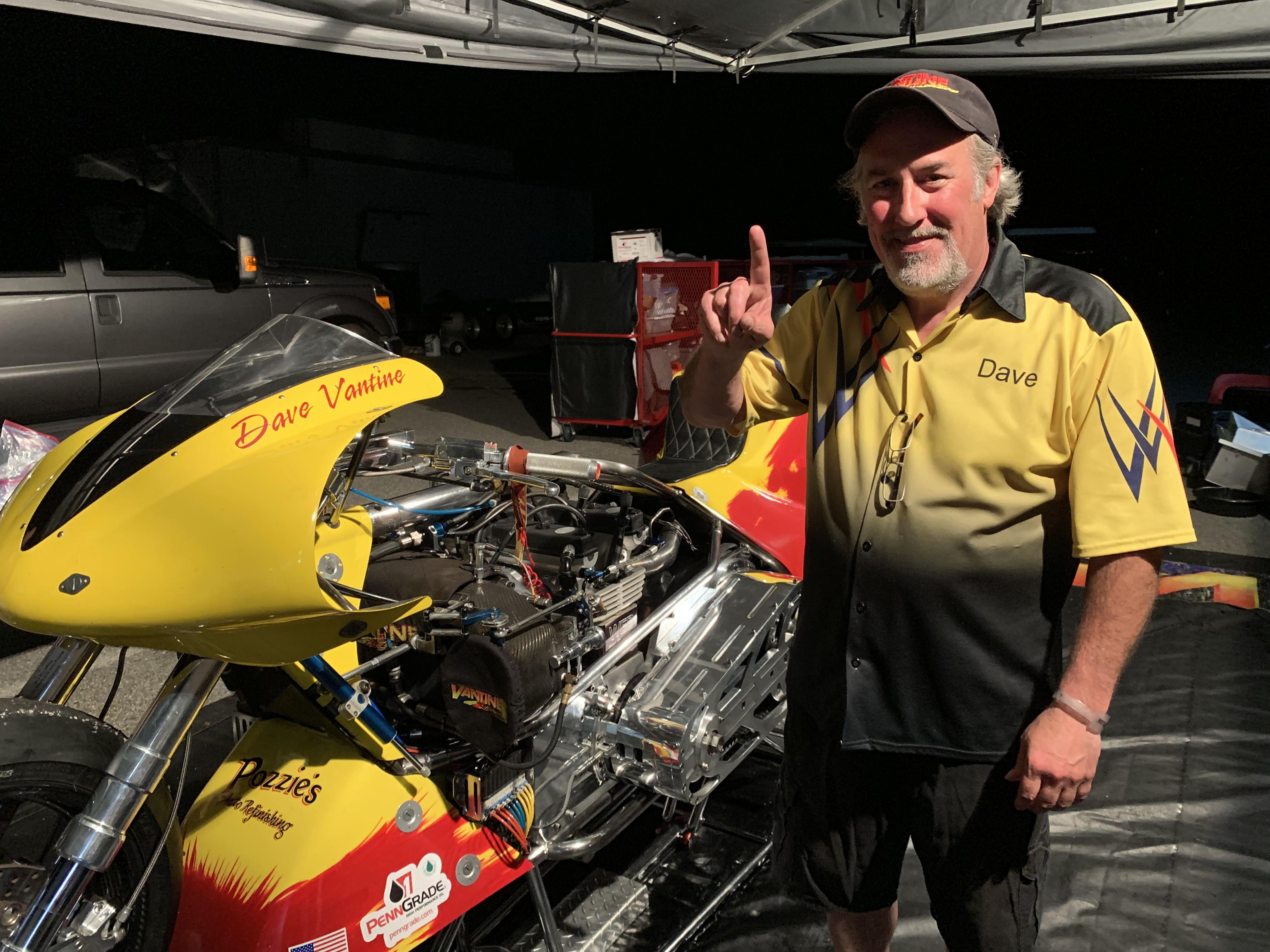 Dave Vantine Top Fuel Motorcycle