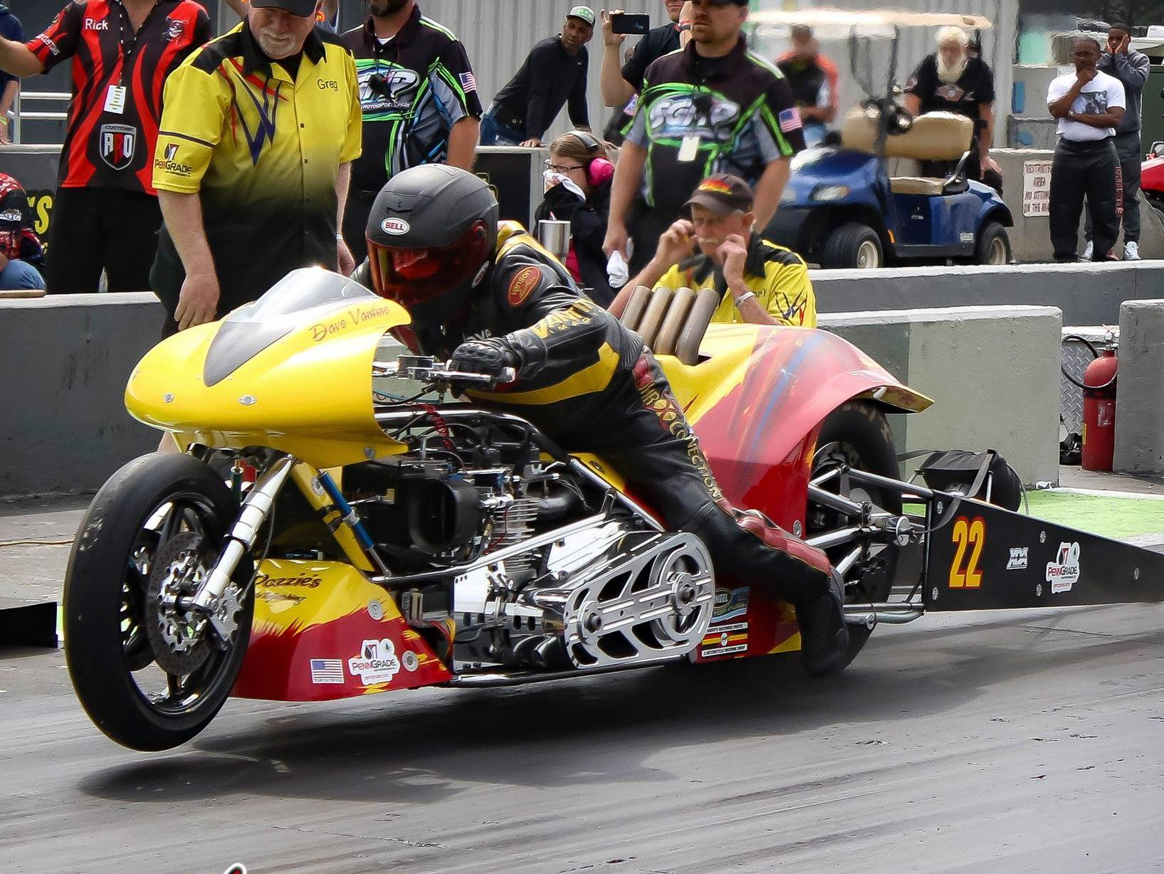 Dave Vantine Top Fuel Motorcycle