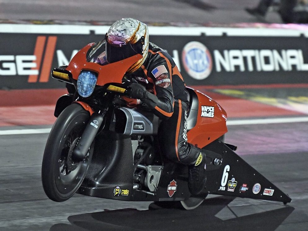 Andrew Hines, FXDR Harley Davidson Pro Stock Motorcycle
