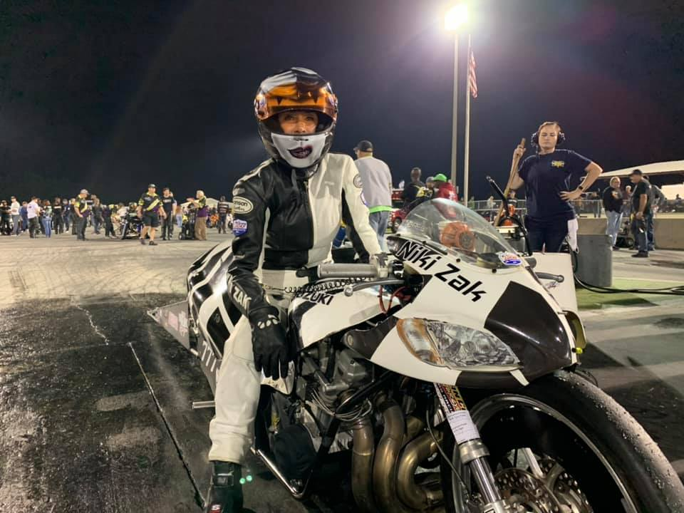 Niki Zak Female Drag Bike racer
