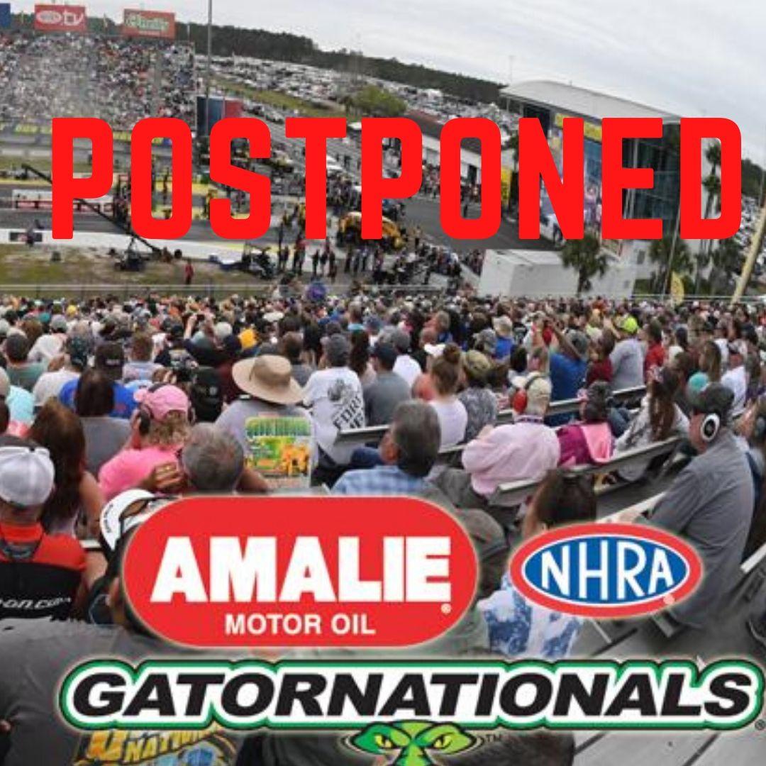 Gatornationals Postponed