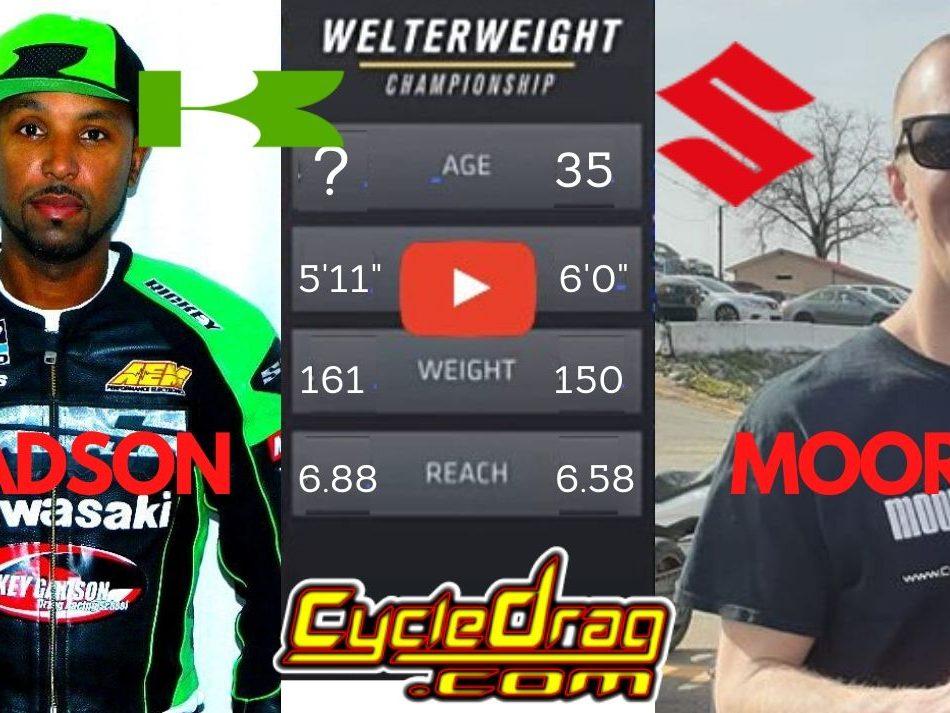 Rickey Gadson vs. Chris Moore