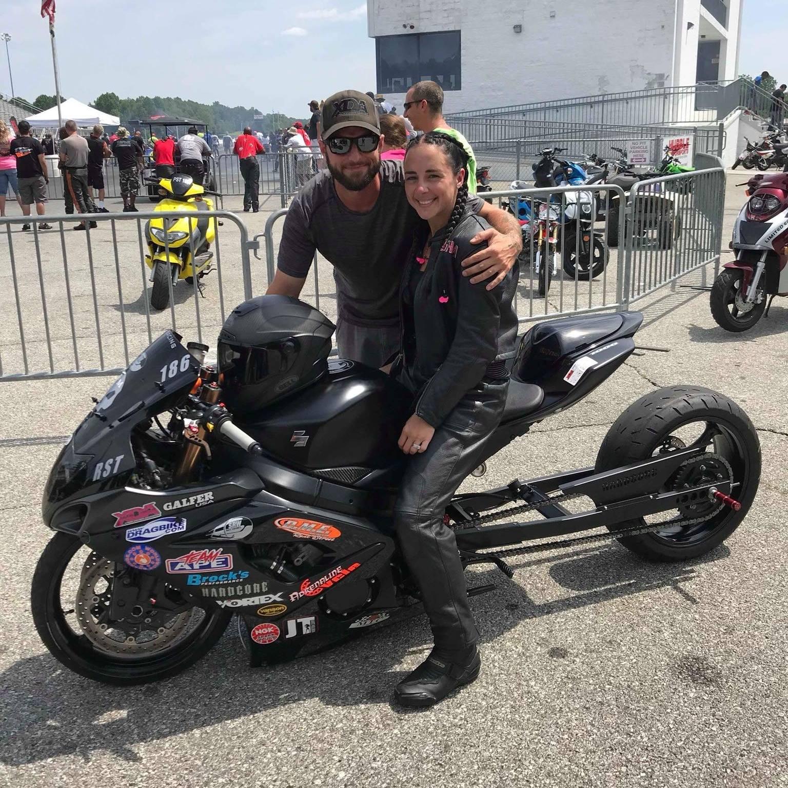 Alisha Malone drag racing