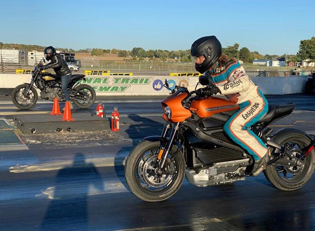 Harley Live Wire Drag Racing