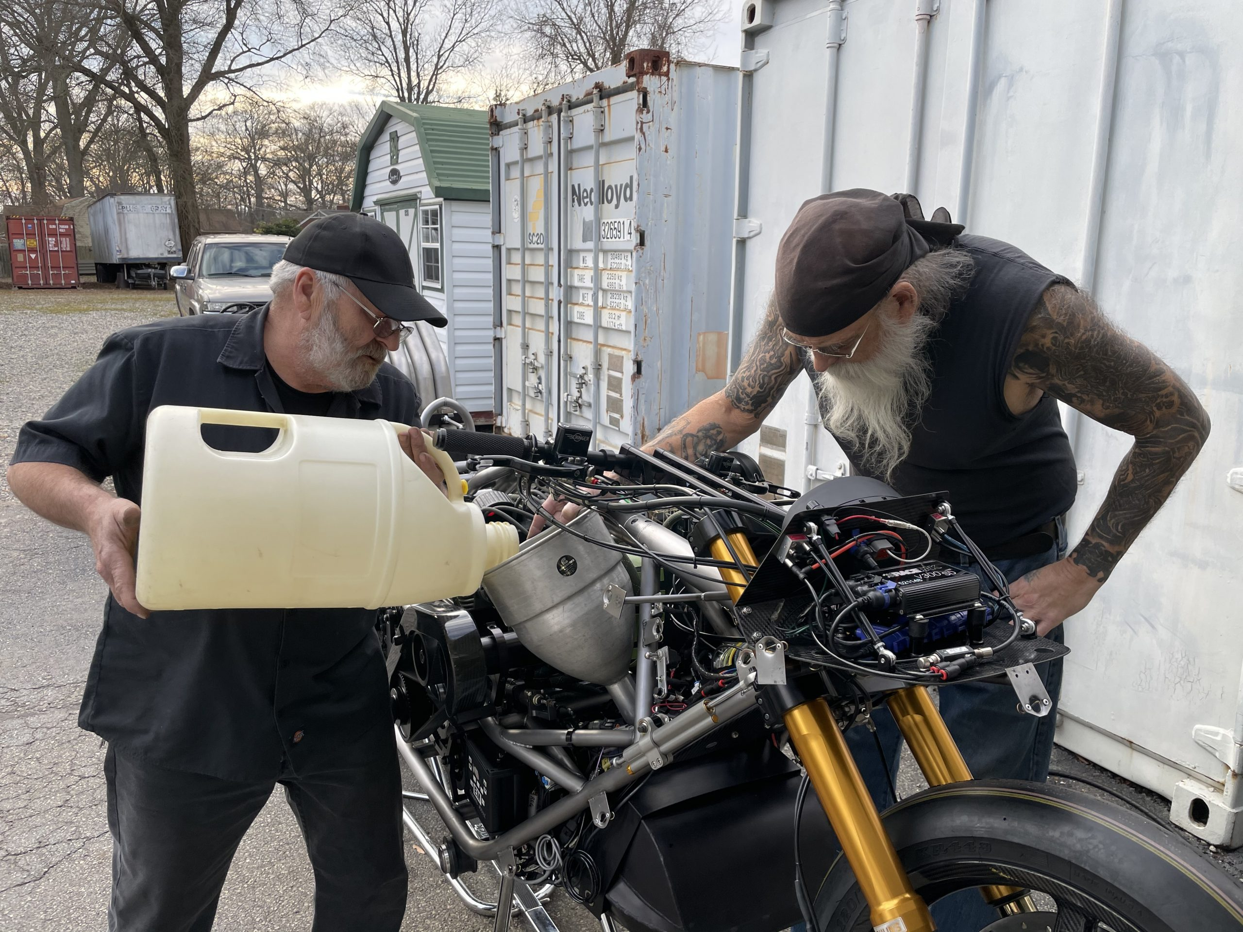 Larry and Steve McBride Top Fuel Motorcycle build