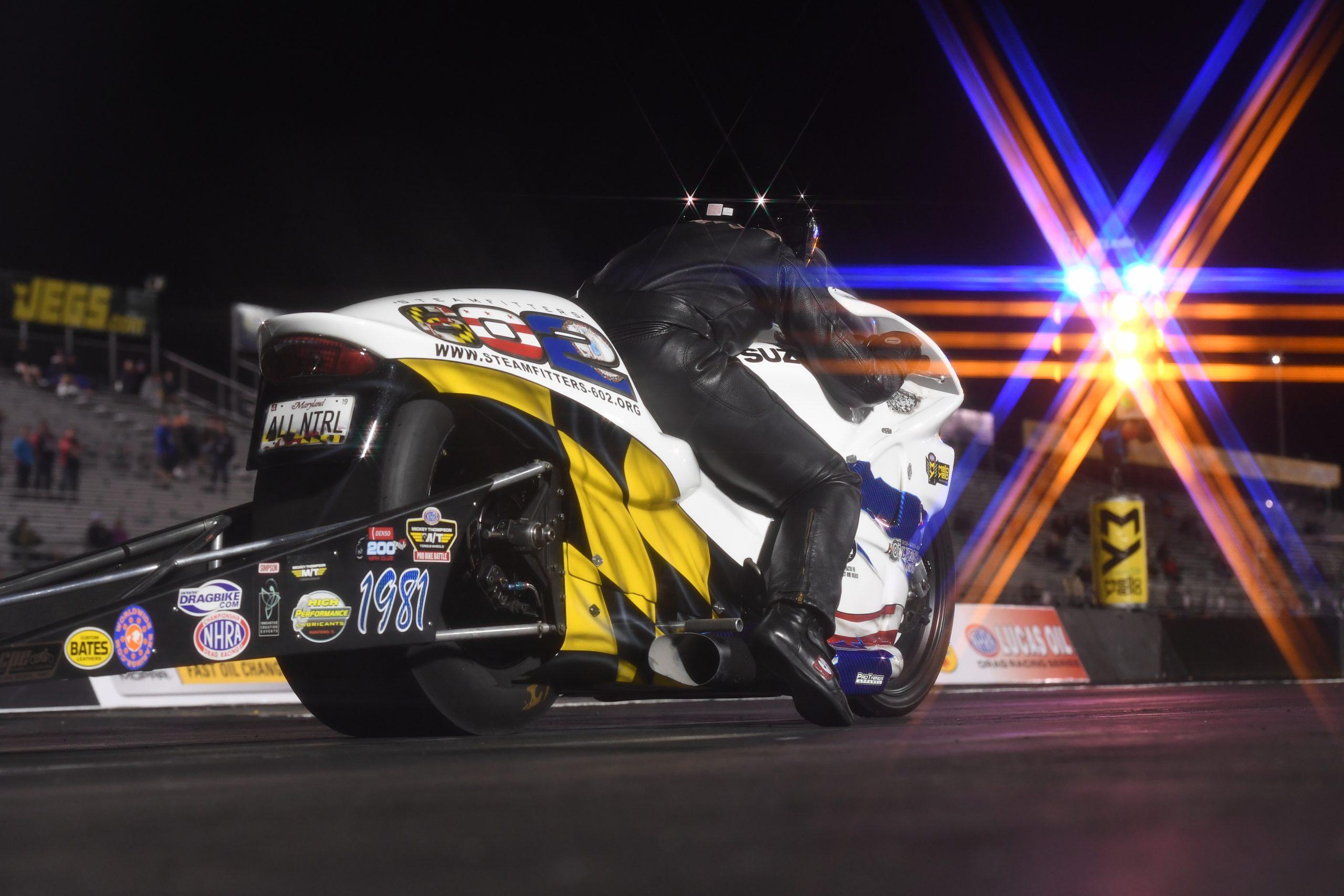 Kelly Clontz NHRA Pro Stock Motorcycle